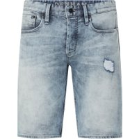 Denham Razor slim fit korte broek van denim met ripped details
