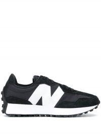 Sneakers met suède vlak
