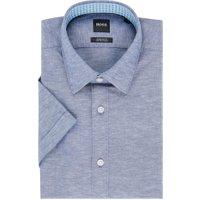 BOSS Luka regular fit overhemd in linnenblend
