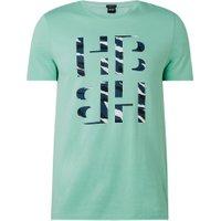 BOSS Tessler T-shirt met tekstopdruk in camouflageprint
