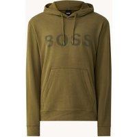 BOSS Zeefast hoodie met flock logoprint