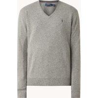 Ralph Lauren Fijngebreide pullover van wol met V-hals