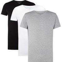 Tommy Hilfiger Essential 3-pack T-shirt met korte mouw en V-hals