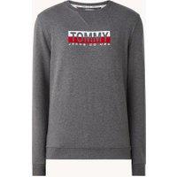 Tommy Hilfiger Essential sweater met logo en ronde hals